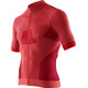X-Bionic Race EVO Biking Shirt SS Men Dark Red/Red